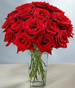Batman çiçekçi mağazası  cam vazoda 11 kirmizi gül  Batman hediye sevgilime hediye çiçek