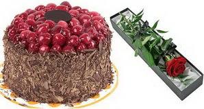 1 adet yas pasta ve 1 adet kutu gül  Batman uluslararası çiçek gönderme