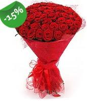 51 adet kırmızı gül buketi özel hissedenlere  Batman çiçek siparişi sitesi