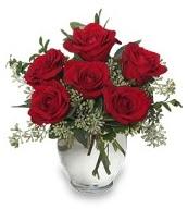 Vazo içerisinde 5 adet kırmızı gül  Batman çiçekçi mağazası