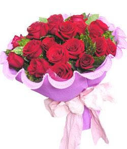 12 adet kırmızı gülden görsel buket  Batman çiçekçi mağazası