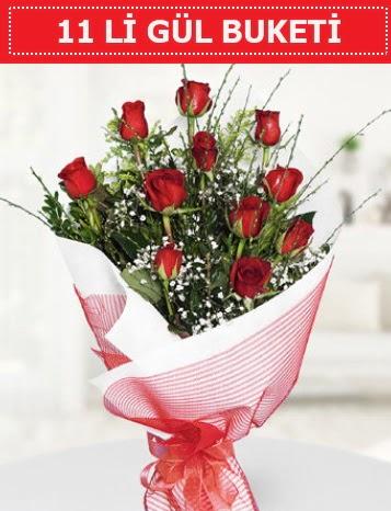 11 adet kırmızı gül buketi Aşk budur  Batman çiçek gönderme sitemiz güvenlidir