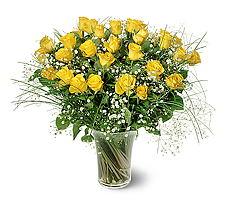 Batman çiçek siparişi sitesi  15 adet sarigül mika yada cam vazoda
