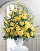 Batman çiçek siparişi sitesi  sari güllerden sebboy tanzim çiçek siparisi