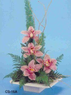 Batman çiçekçi telefonları  vazoda 4 adet orkide