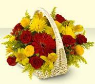 Batman 14 şubat sevgililer günü çiçek  sepette mevsim çiçekleri