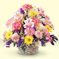 Batman uluslararası çiçek gönderme  sepet içerisinde gül ve mevsim