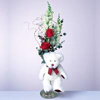 2 adet gül ve panda özel  Batman çiçekçi mağazası