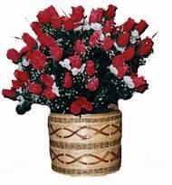 yapay kirmizi güller sepeti   Batman kaliteli taze ve ucuz çiçekler
