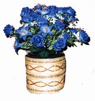 yapay mavi çiçek sepeti  Batman cicekciler , cicek siparisi
