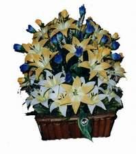 yapay karisik çiçek sepeti   Batman çiçek gönderme