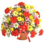 karisik renkli çiçek sepet   Batman çiçek gönderme sitemiz güvenlidir