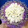 71 adet beyaz gül buketi   Batman çiçek , çiçekçi , çiçekçilik