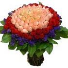 71 adet renkli gül buketi   Batman ucuz çiçek gönder