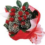 Batman internetten çiçek satışı  KIRMIZI AMBALAJ BUKETINDE 12 ADET GÜL