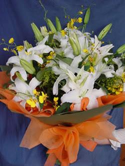 Batman internetten çiçek satışı  5 ADET KAZABLANKA BUKETI KALITEDEN SASMAYANLARA