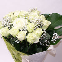 Batman hediye çiçek yolla  11 adet sade beyaz gül buketi