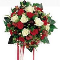 Batman ucuz çiçek gönder  6 adet kirmizi 6 adet beyaz ve kir çiçekleri buket