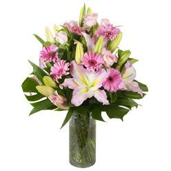 vazo içerisinde karisik mevsim çiçekleri  Batman internetten çiçek siparişi
