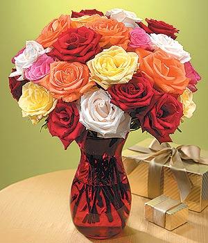 Batman anneler günü çiçek yolla  13 adet renkli gül