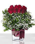 Batman çiçek , çiçekçi , çiçekçilik  11 adet gül mika yada cam - anneler günü seçimi -