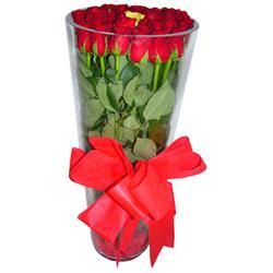 Batman çiçek online çiçek siparişi  12 adet kirmizi gül cam yada mika vazo tanzim
