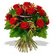 9 adet kirmizi gül ve kir çiçekleri  Batman internetten çiçek satışı