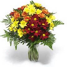 Batman çiçek siparişi sitesi  Karisik çiçeklerden mevsim vazosu