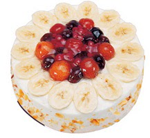 Meyvali 4 ile 6 kisilik yas pasta leziz  Batman ucuz çiçek gönder
