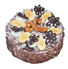 Muzlu çikolatali yas pasta 4 ile 6 kisilik   Batman uluslararası çiçek gönderme