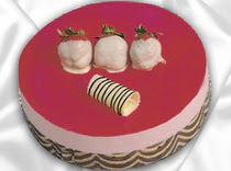 pasta siparisi 4 ile 6 kisilik yas pasta çilekli yaspasta  Batman çiçek servisi , çiçekçi adresleri