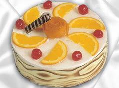 lezzetli pasta satisi 4 ile 6 kisilik yas pasta portakalli pasta  Batman çiçekçi mağazası