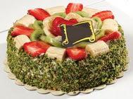 pasta gönder  4 ile 6 kisilik karisik meyvali yas pasta  Batman internetten çiçek siparişi