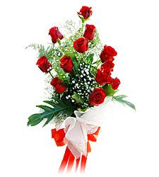 11 adet kirmizi güllerden görsel sölen buket  Batman çiçek siparişi vermek