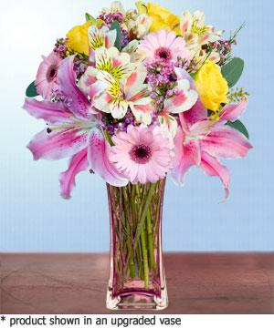 Anneme hediye karisik cam mevsim demeti  Batman internetten çiçek siparişi
