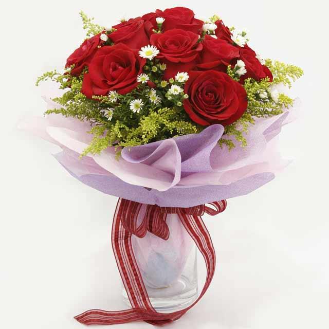 Çiçek gönderme estetikliginiz 11 gül buket  Batman çiçekçi mağazası