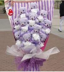 11 adet pelus ayicik buketi  Batman çiçek gönderme sitemiz güvenlidir