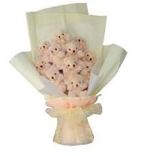 11 adet pelus ayicik buketi  Batman ucuz çiçek gönder