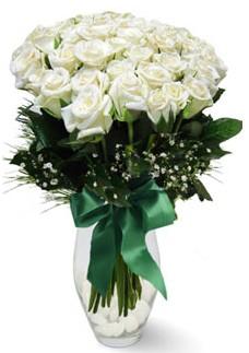 19 adet essiz kalitede beyaz gül  Batman çiçekçiler