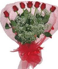 7 adet kipkirmizi gülden görsel buket  Batman çiçek mağazası , çiçekçi adresleri