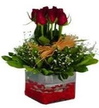 Batman çiçek gönderme  7 adet mika yada cam vazoda gül tanzimi