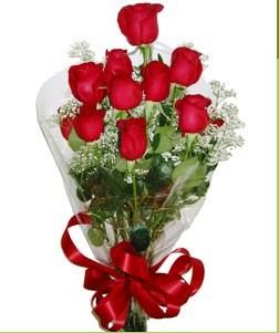 Batman uluslararası çiçek gönderme  10 adet kırmızı gülden görsel buket