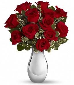 Batman çiçek siparişi vermek   vazo içerisinde 11 adet kırmızı gül tanzimi