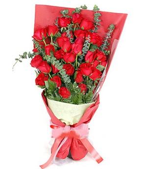 Batman çiçek gönderme  37 adet kırmızı güllerden buket