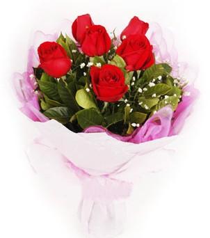 Batman hediye sevgilime hediye çiçek  kırmızı 6 adet gülden buket