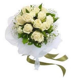 Batman online çiçekçi , çiçek siparişi  11 adet benbeyaz güllerden buket