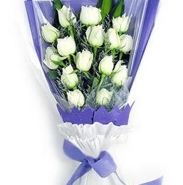 Batman çiçekçi mağazası  11 adet beyaz gül buket modeli