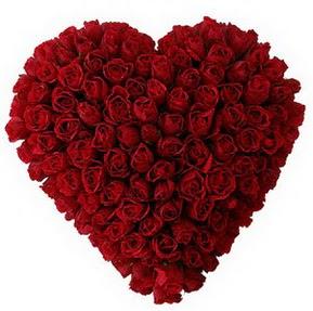 Batman çiçekçi mağazası  muhteşem kırmızı güllerden kalp çiçeği