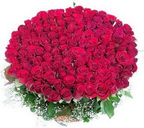 Batman online çiçekçi , çiçek siparişi  100 adet kırmızı gülden görsel buket