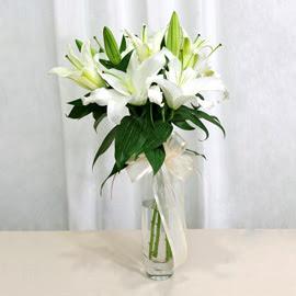 Batman anneler günü çiçek yolla  2 dal kazablanka ile yapılmış vazo çiçeği